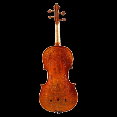 QV302雕刻花纹小提琴