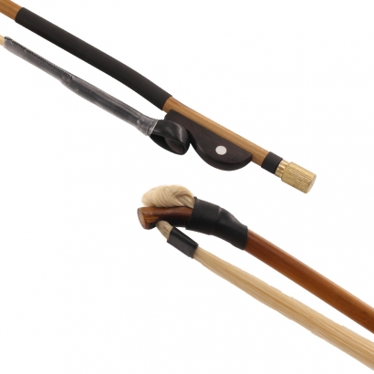 GH201黑檀马尾行箭竹板胡弓