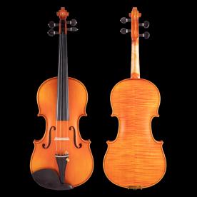 QV205虎纹考纯手工油漆考级小提琴