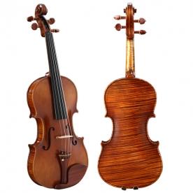 QV406欧料虎纹独板小提琴