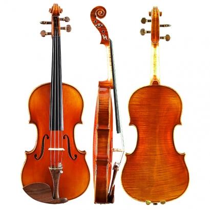 QV412虎纹独板舞台独奏小提琴